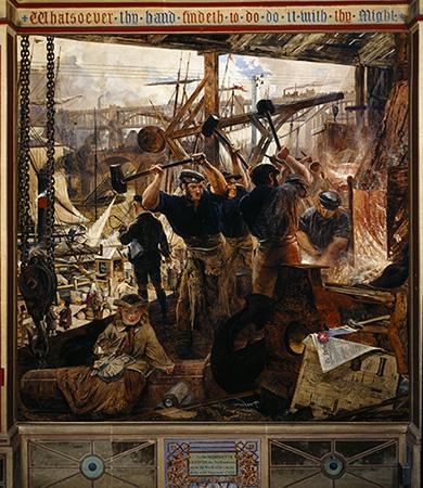 産業革命とジュエリー。ウィリアム・ベル・スコット「鉄と石炭」/提供:National Trust Photo Library/アフロ