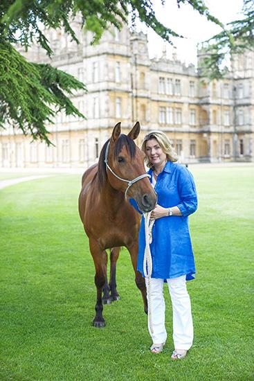 レディ・フィオーナと乗馬