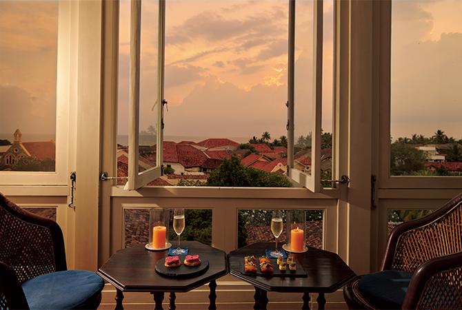 3階の「サンセットバルコニー」からの眺め