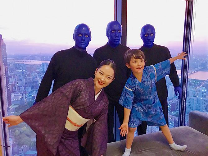 ブルーマンの妻 北川聖子 海外きもの日記