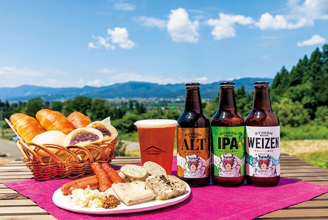 猿倉山ビール醸造所のテラス シャルキュトリー パン