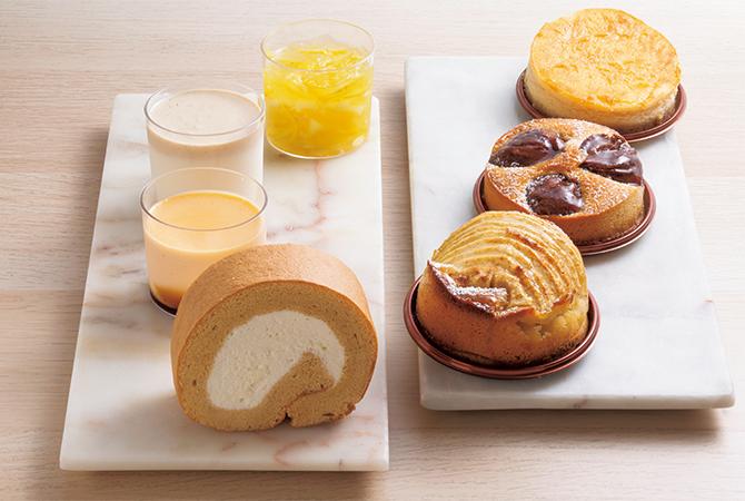アマソラのロールケーキやタルト、プリン