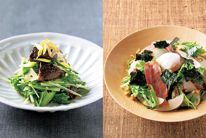 水菜の炒めもの 水菜サラダ