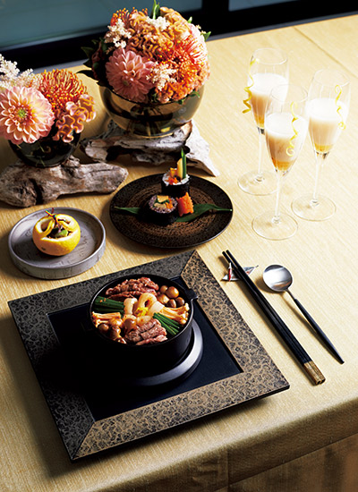 「韓国風すき焼き」をメインディッシュに、コースで楽しむ鍋パーティ