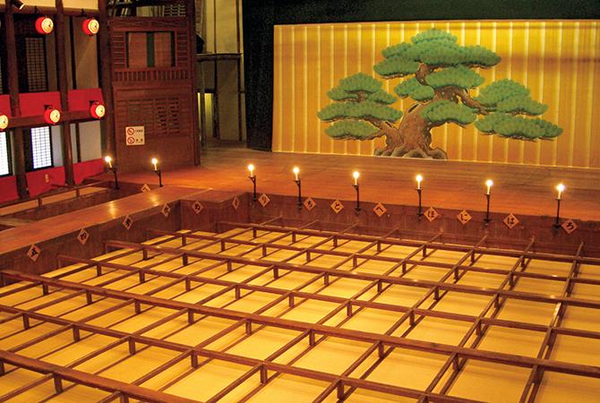 旧金毘羅大芝居(金丸座)の桟敷席