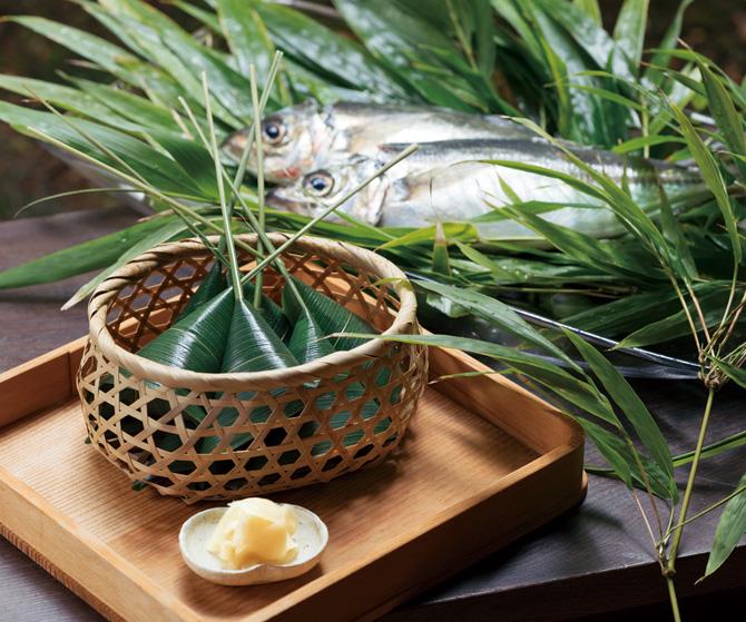 鯵の笹巻き寿司