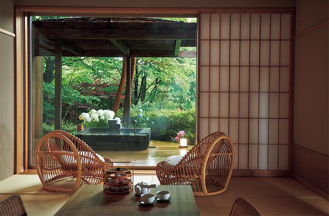 箱根強羅 白檀の「巌」室内