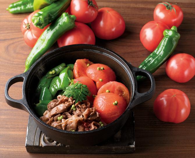 トマトと牛肉のすき焼き