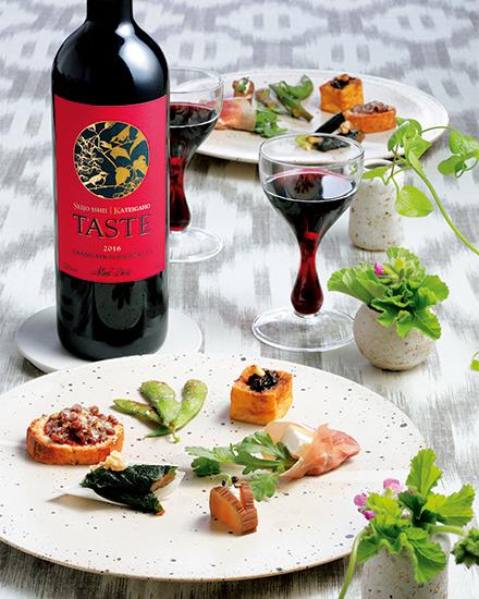 赤ワイン「TASTE」とフィンガーフード「WAmuse」