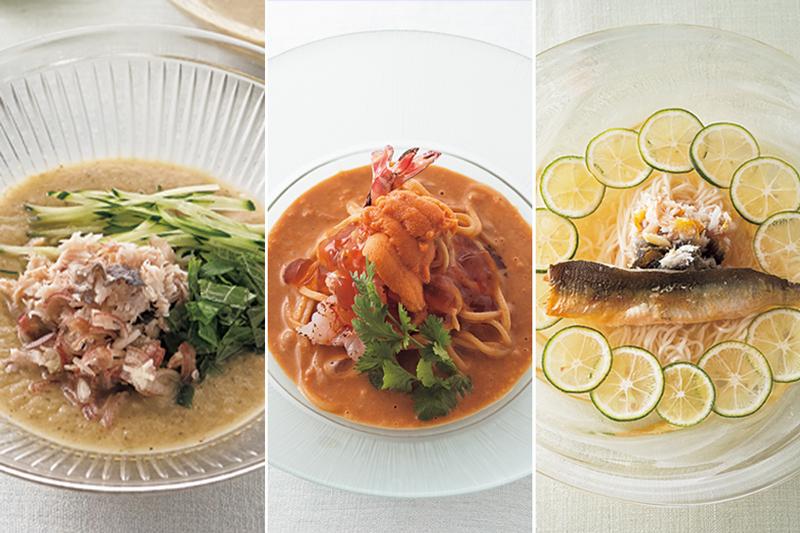 魚介のうまみを利かせた汁麺とあえ麺