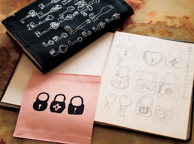 京都府立堂本印象美術館の「ブックカバーとコースター」