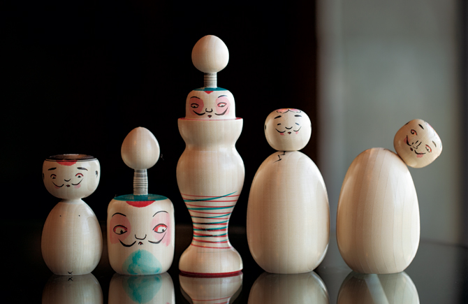 諸橋近代美術館の「福島生まれのヒゲこけし」