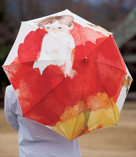 安曇野ちひろ美術館の「いわさきちひろオリジナル雨傘」