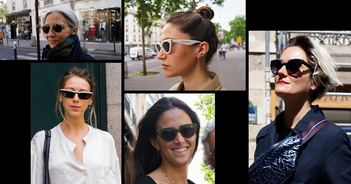 パリジェンヌのサングラスファッション実例