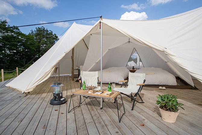 テント内ベッド