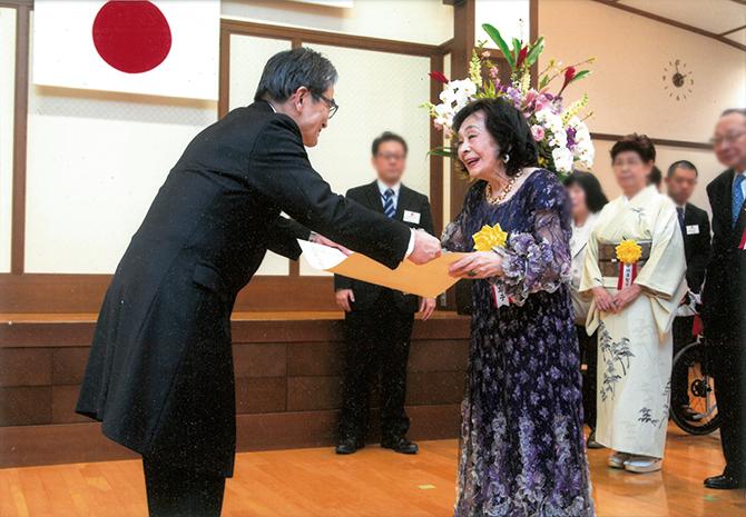 2019年度文化庁長官表彰を受ける室井摩耶子さん
