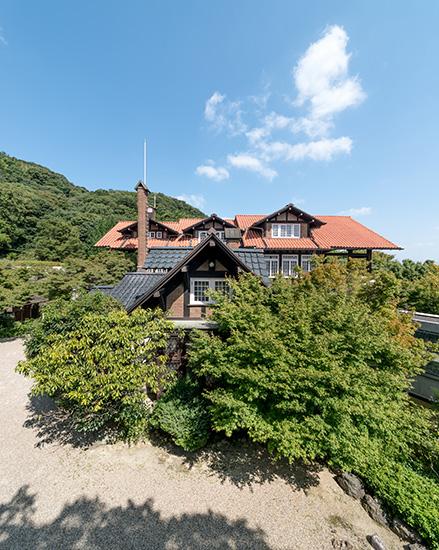 アサヒビール大山崎山荘美術館の外観