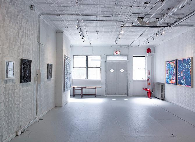 ニューヨークのギャラリー「ロリモト」の内観