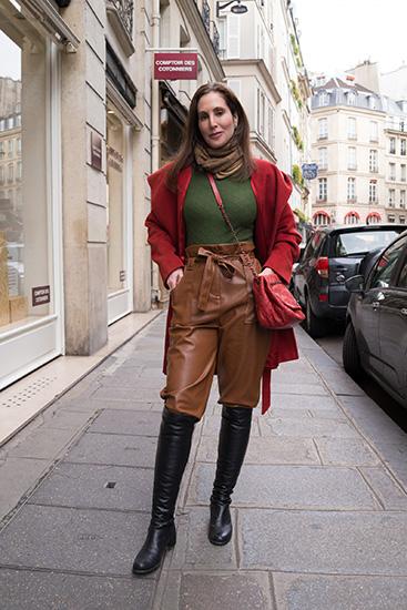 パリのファッションスナップ