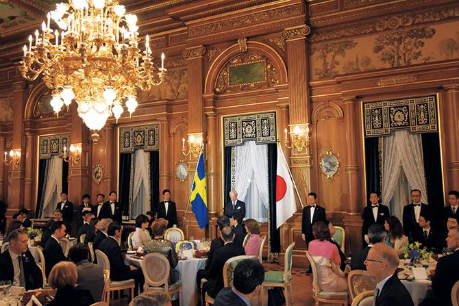 総理主催の晩餐会