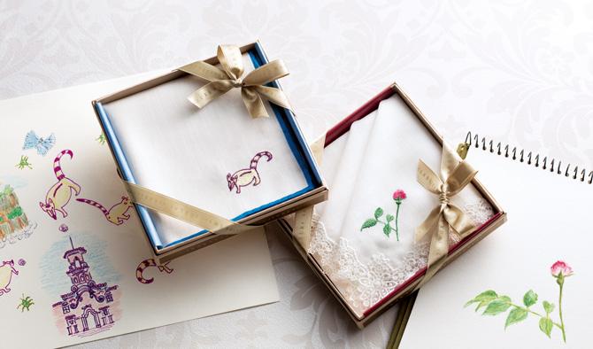 オリジナル刺繡ハンカチーフ