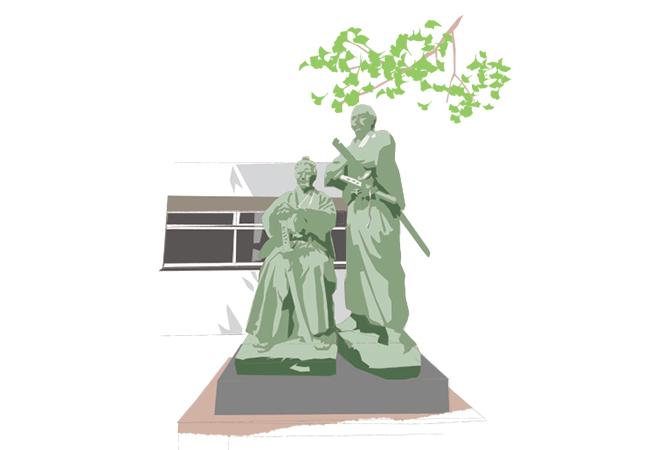 勝 海舟と坂本龍馬の師弟像