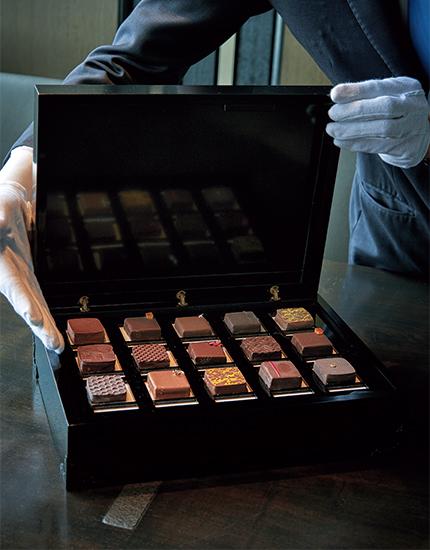 ラ・ブティックの自家製チョコレート