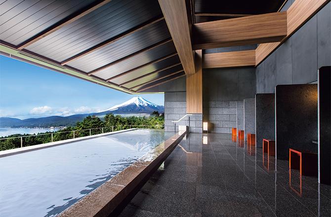 ホテルマウント富士の展望露天風呂「はなれの湯」
