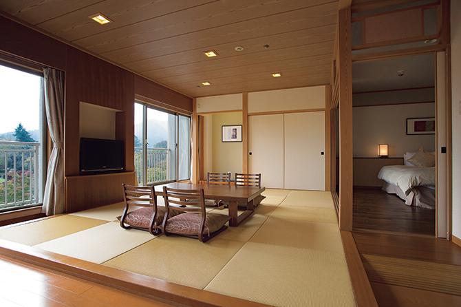 富士ビューホテルの角部屋の「ジュニアスイート」