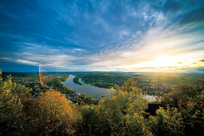ケーニヒスヴィンターの丘からの眺め