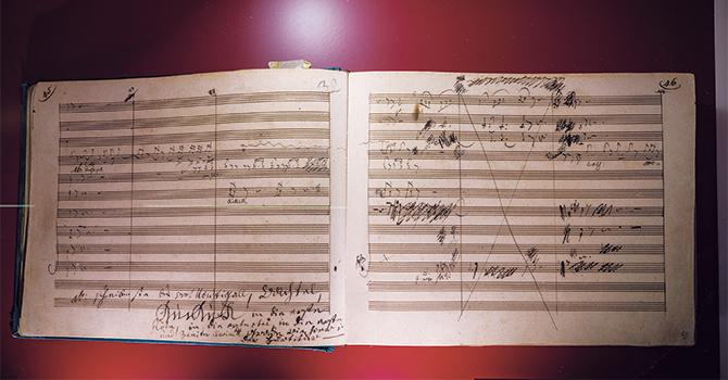 1808年に書かれたチェロ・ソナタ第三番の自筆譜複製