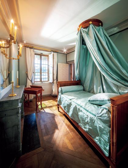 マリー・ルイーズがしつらえたくつろぎのベッドルーム