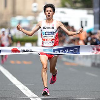 マラソン中村選手