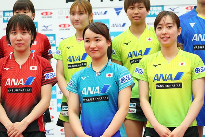 女子卓球代表3選手