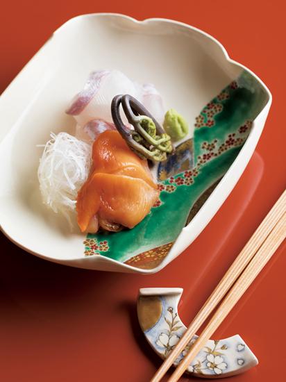 鯛と赤貝のお造り