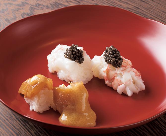 フカヒレの黄金鮨