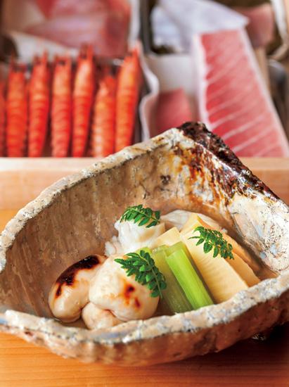 焼き白子と筍、トラフグの吉野煮