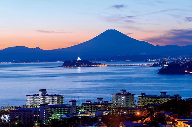 ふるさとの絶景【神奈川県】披露山公園から望む相模湾の夕景