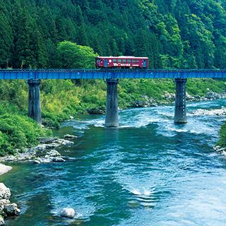 ふるさとの絶景【岐阜県】長良川の上を走る名鉄美濃町線の特急