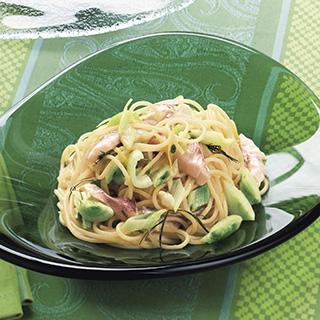レモンと白身魚の冷製スパゲッティ