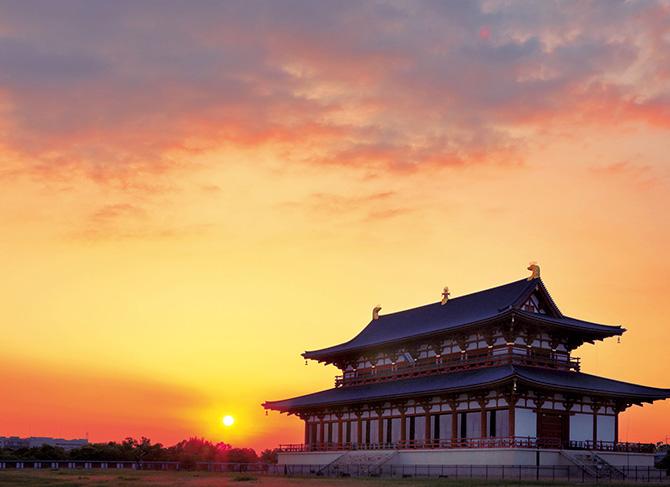 ふるさとの絶景【奈良県】平城宮跡から見る夕陽