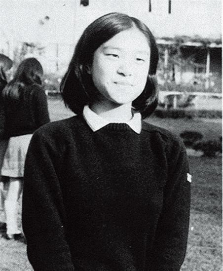 慶應義塾女子高校時代のスナップ