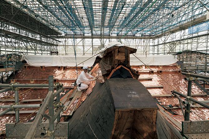 本殿銅葺き屋根修理