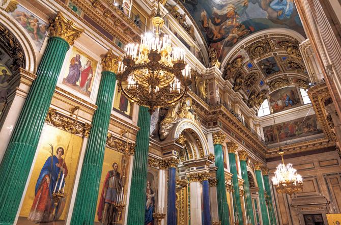 突然祈りに目覚めた聖イサァク大聖堂