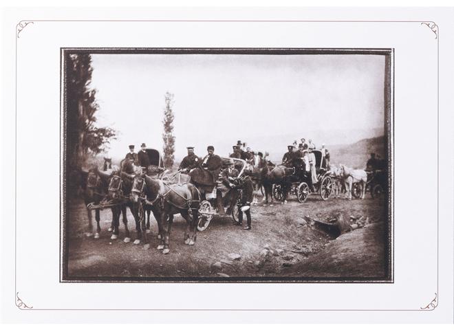 馬車で旅するチャイコフスキー一行