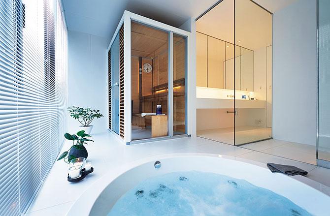 ついつい長風呂になってしまう 極楽バスルーム情報 Sauna