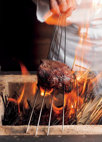 近江牛の炙り焼き