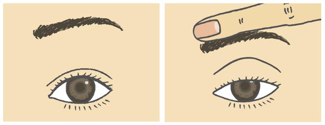 眼瞼下垂の兆候があるかチェックを
