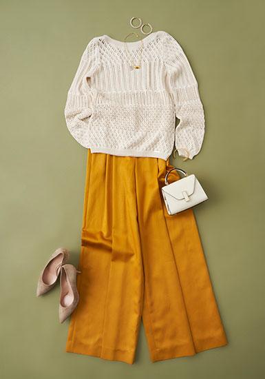 【迷い世代の服選び】 40代からのコーディネートに必要なトレンドアイテム 第4回 華やかディテールのニット