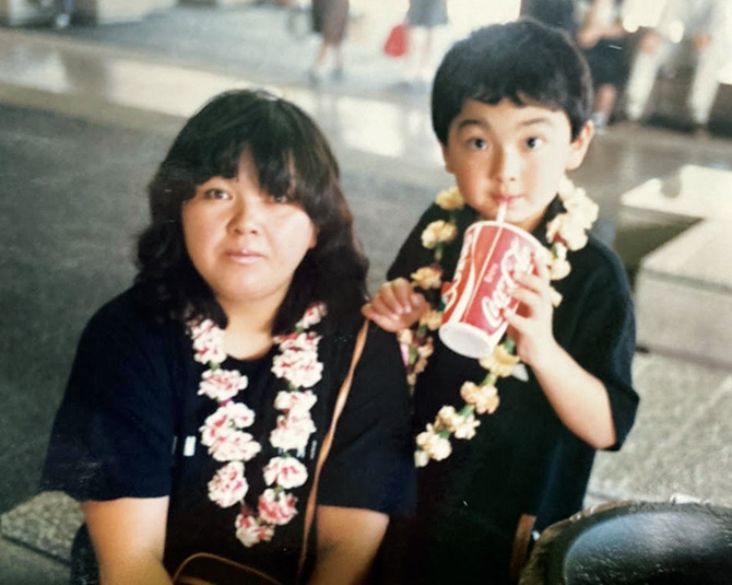 杉本 雄さんと母三枝子さん